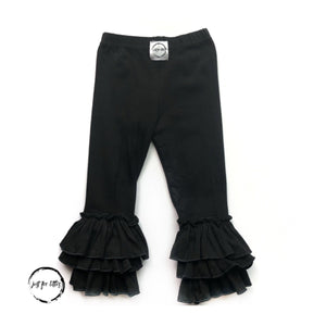 Black Ruffle Leggings Just For Littles
