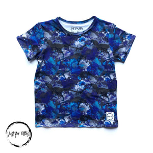 Blue Dino T-Shirt Shirt Just For Littles