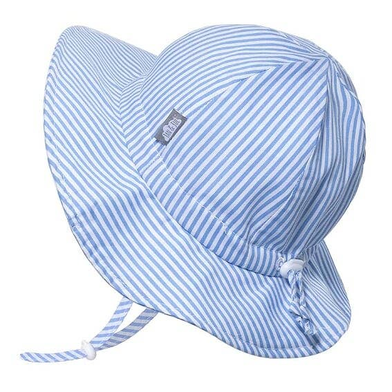 Blue Stripes | Cotton Floppy Sun Hat Jan & Jul