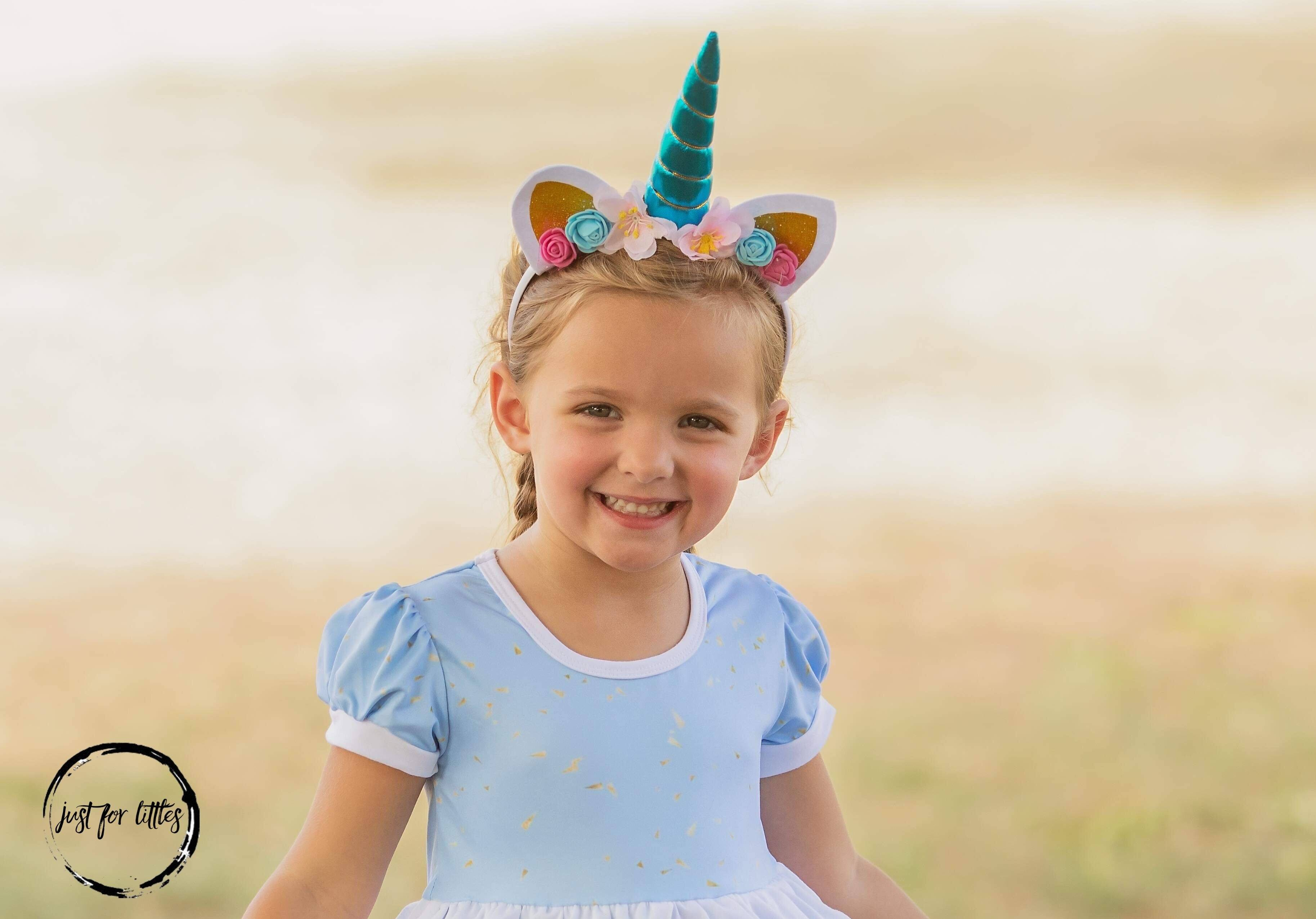 Blue Unicorn Headband accessories Just For Littles
