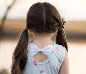 Bow Back Twirl Dress Just For Littles
