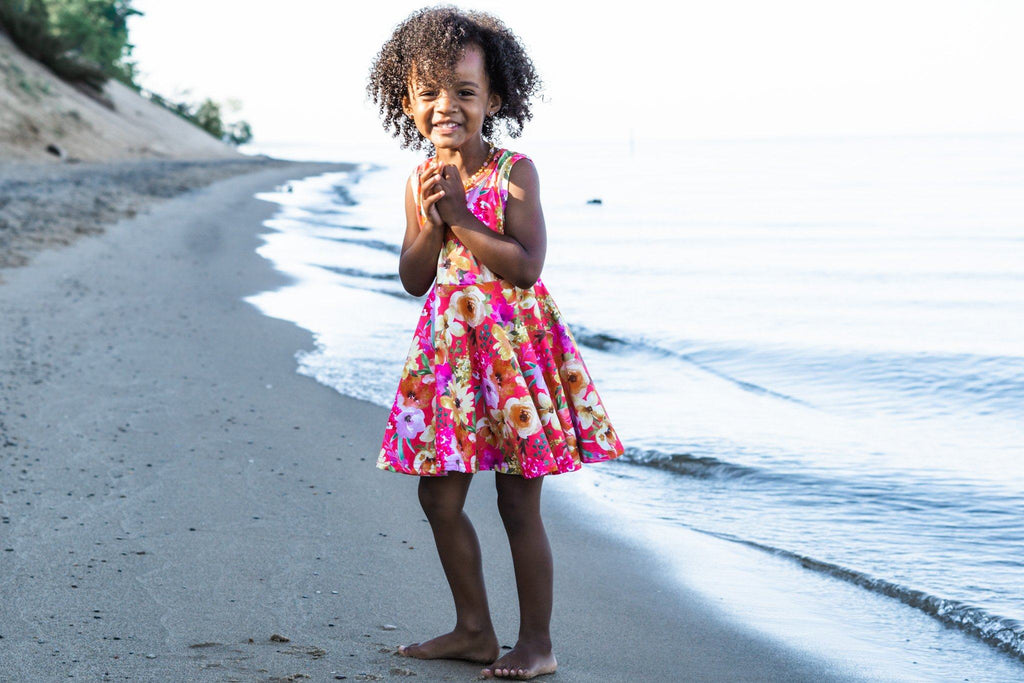 Bright Watercolor Twirl Dress Just For Littles