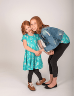 Load image into Gallery viewer, Cactus Twirl Dress Just For Littles