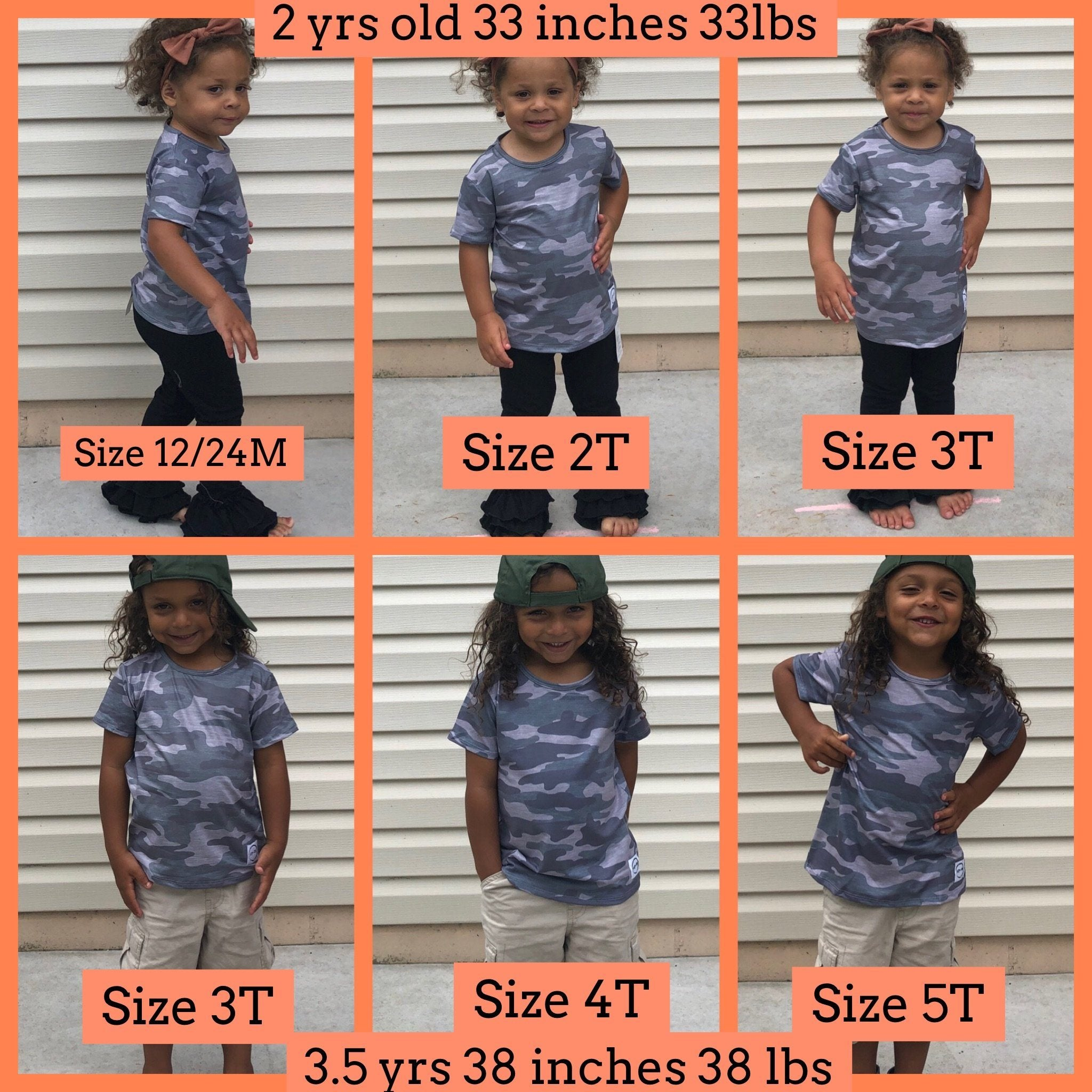 Camo T-Shirt Shirt Just For Littles