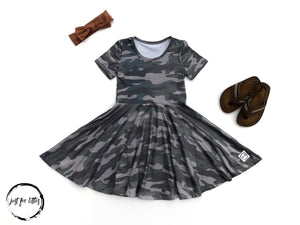 Camo Twirl Dress Just For Littles