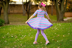 Candy Stripe Twirl Dress Just For Littles