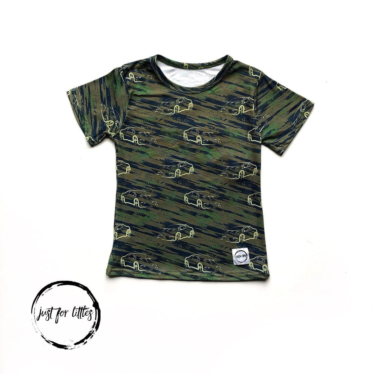 Car Camouflage T-Shirt Just For Littles