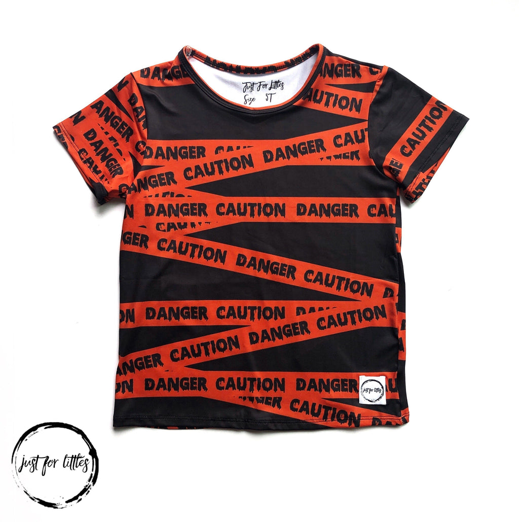 Caution T-Shirt Just For Littles