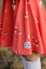 Load image into Gallery viewer, Coral Fancy Twirl Dress Just For Littles