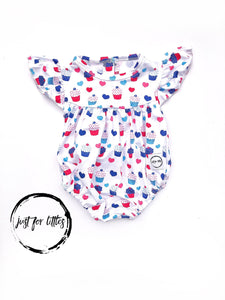 Cupcakes Romper Just For Littles