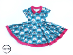 Load image into Gallery viewer, Doggie Twirl Dress Just For Littles