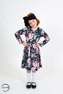 Emerald Floral Twirl Dress Just For Littles