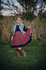 Load image into Gallery viewer, Fab Floral Twirl Dress Dress Just For Littles
