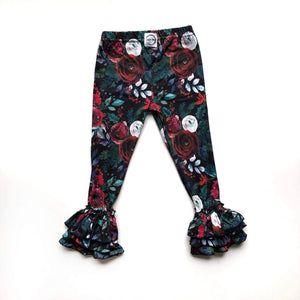 Floral Ruffle Leggings Just For Littles