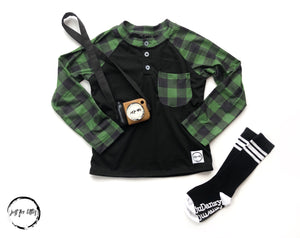 Forest Plaid T-Shirt Shirt Just For Littles™