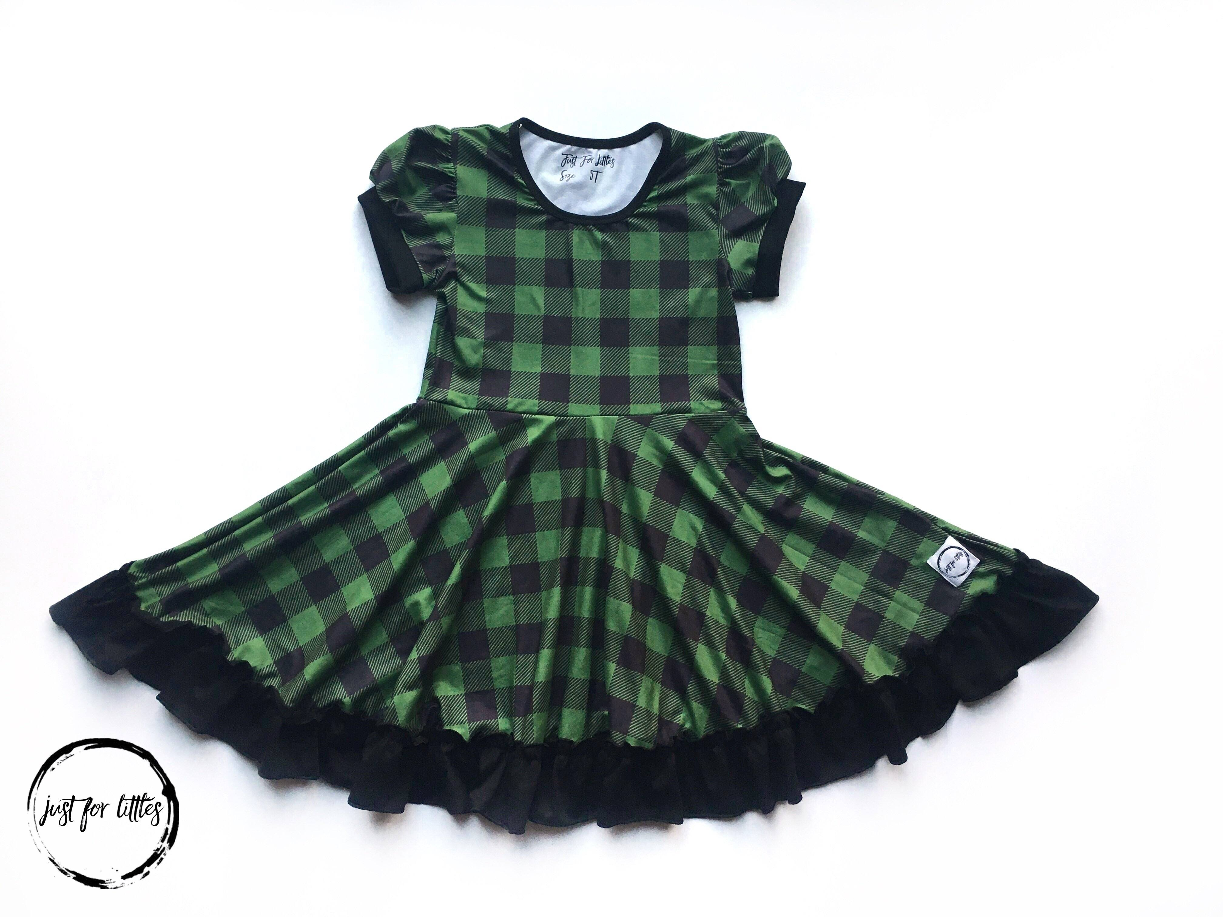 Forest Plaid Twirl Dress Dress Just For Littles™