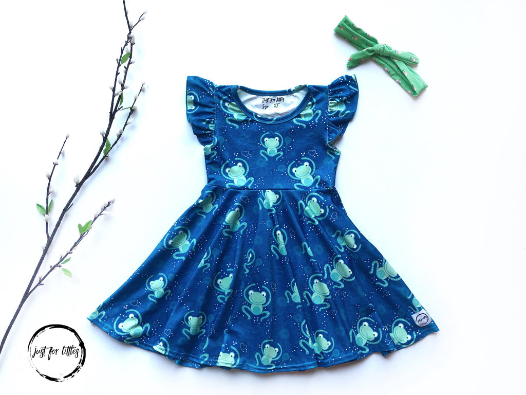 Frog Twirl Dress Just For Littles