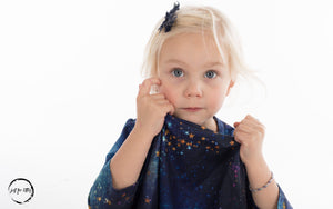 Galaxy 3/4 Sleeve Twirl Dress Just For Littles