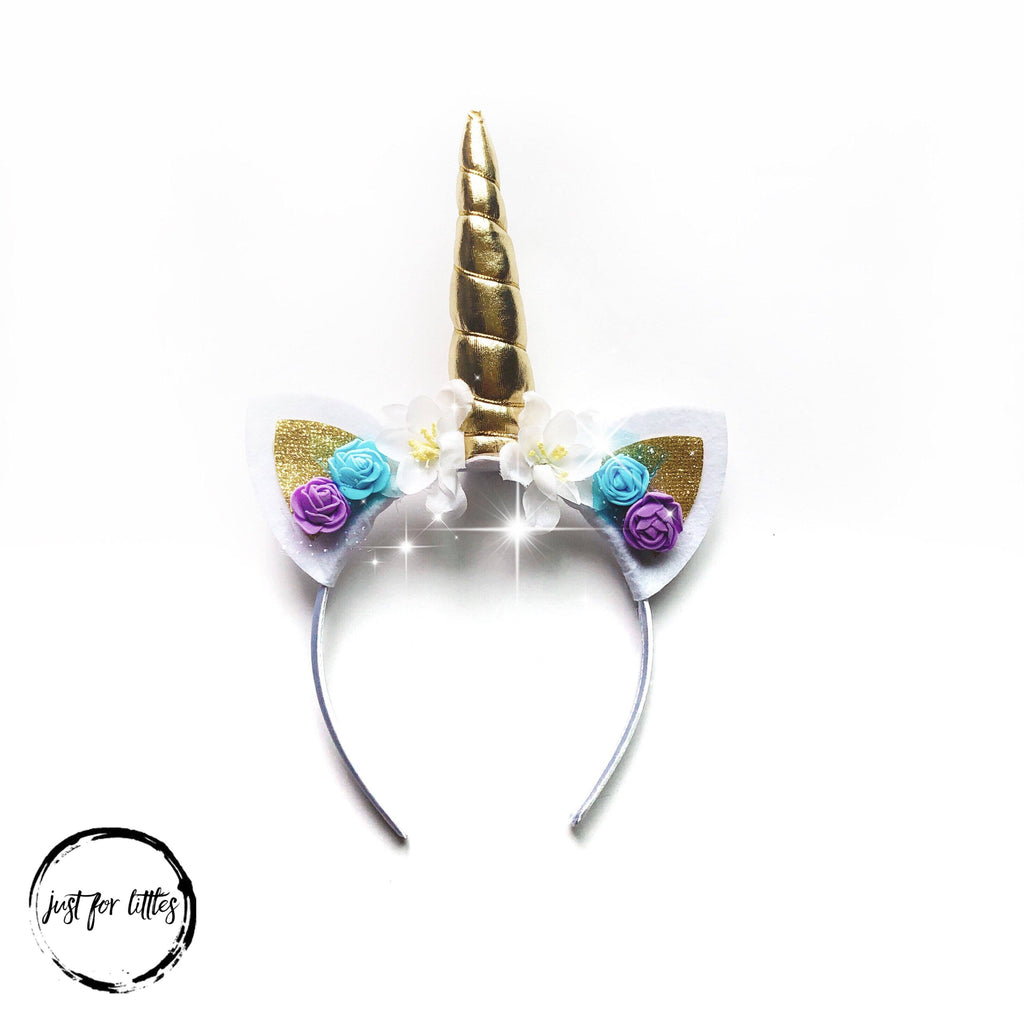 Gold Unicorn Headband accessories Just For Littles