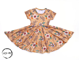 Golden Daisy Twirl Dress Just For Littles