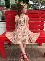 Load image into Gallery viewer, Golden Daisy Twirl Dress Just For Littles