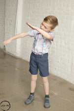 Load image into Gallery viewer, Gray Button Up Shirt Just For Littles
