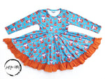 Load image into Gallery viewer, Happy Pumpkin Twirl Dress Just For Littles