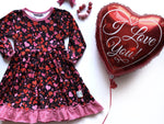 Load image into Gallery viewer, Heart Twirl Dress Just For Littles
