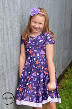 Load image into Gallery viewer, Hedgehog Twirl Dress Just For Littles
