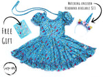 Load image into Gallery viewer, Joyful Dreamer Unicorn Twirl Dress Just For Littles