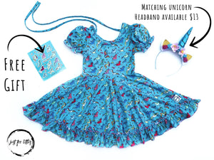 Joyful Dreamer Unicorn Twirl Dress Just For Littles