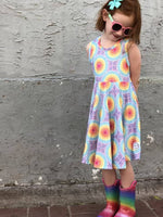 Load image into Gallery viewer, Kaleidoscope Twirl Dress Just For Littles