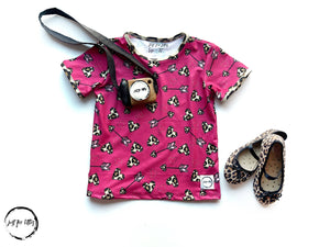 Leopard Heart Top Shirt Just For Littles™