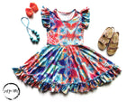 Load image into Gallery viewer, Medallion Twirl Dress Just For Littles