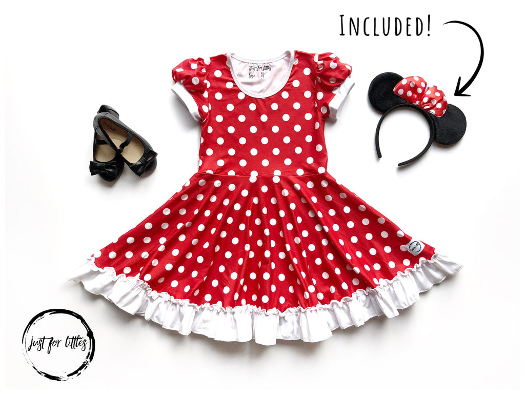 Minnie Mouse Twirl Costume Dress Just For Littles
