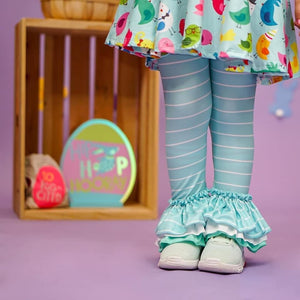Mint Stripe Three-Tier Leggings Bottoms Just For Littles