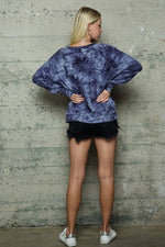 Load image into Gallery viewer, Navy Tie Dye Pullover Sweatshirt Shirt Endless Blu