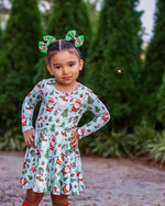 Load image into Gallery viewer, North Pole Twirl Dress Dress Just For Littles