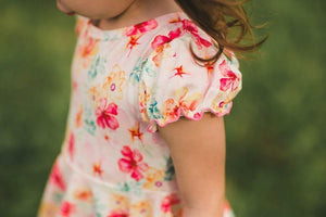 Painted Floral Twirl Dress Just For Littles