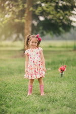 Load image into Gallery viewer, Painted Floral Twirl Dress Just For Littles