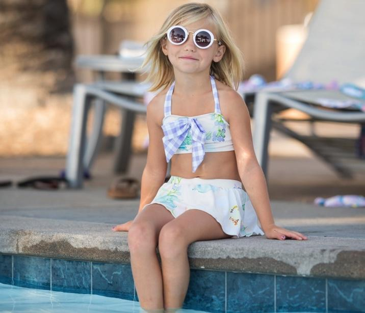 #Pelican Cottage Two Piece Swimsuit Swim Blueberry Bay