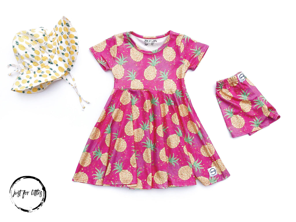 Pineapple Twirl Dress Just For Littles