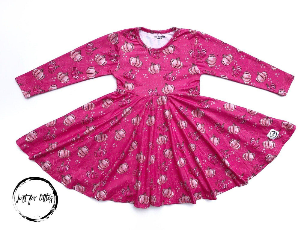 Pink Pumpkin Twirl Dress Just For Littles