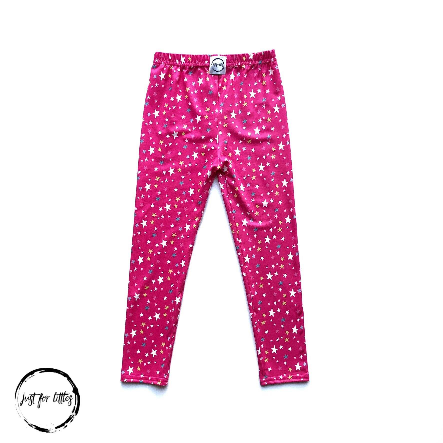Pink Star Leggings Bottoms Just For Littles