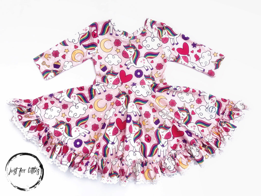 Pink Unicorn Twirl Dress Just For Littles