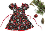 Load image into Gallery viewer, Poinsettia Christmas Dress Dress Just For Littles