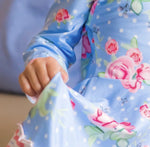 Load image into Gallery viewer, Polka Dot Floral Twirl Dress Just For Littles