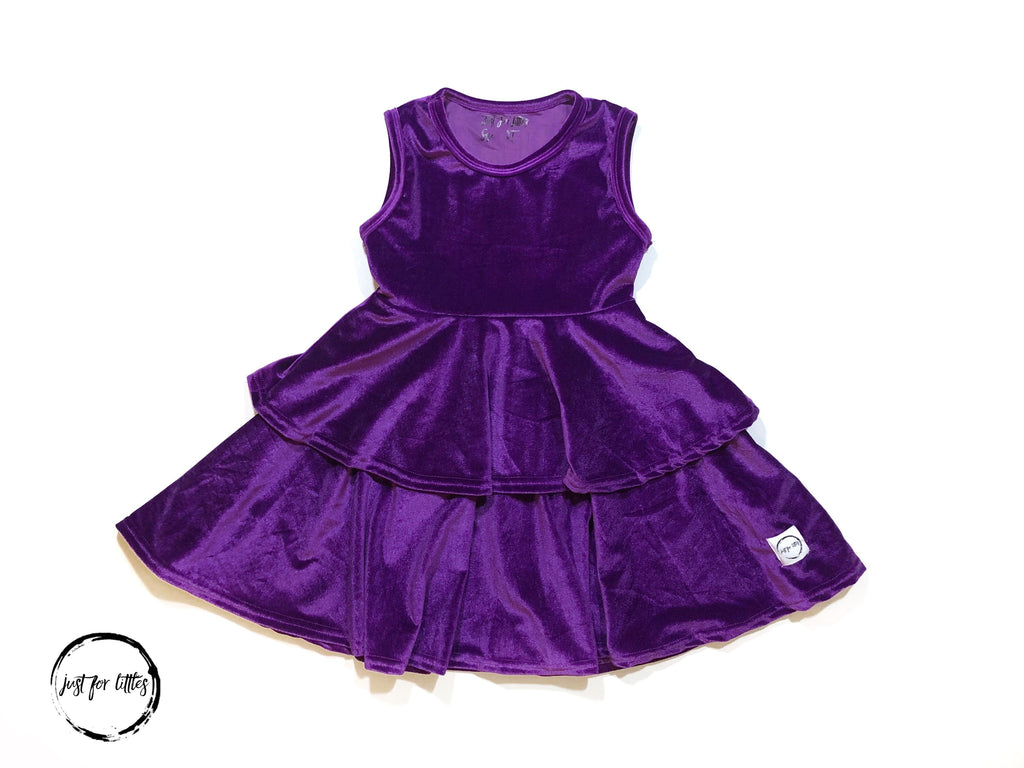 Purple Party Twirl Dress Just For Littles
