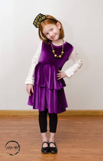 Load image into Gallery viewer, Purple Party Twirl Dress Just For Littles