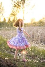 Load image into Gallery viewer, Purple Unicorn Twirl Dress Just For Littles